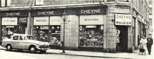 Moped shops then and now for Aberdeen tanning salon