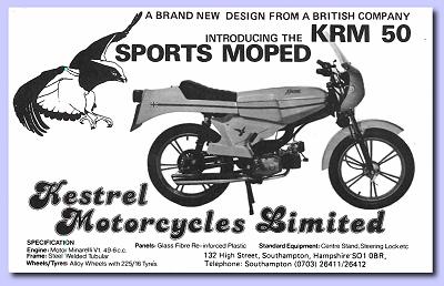 Kestrel printed promotional card